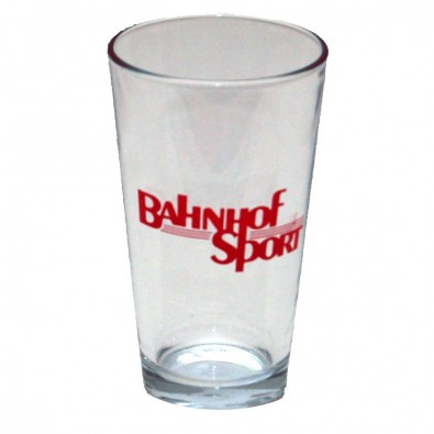 Bahnhof Sport Logo Pint Glass