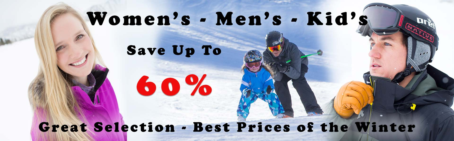 Save on Boards, Helmets, Goggles & Winter Clothing